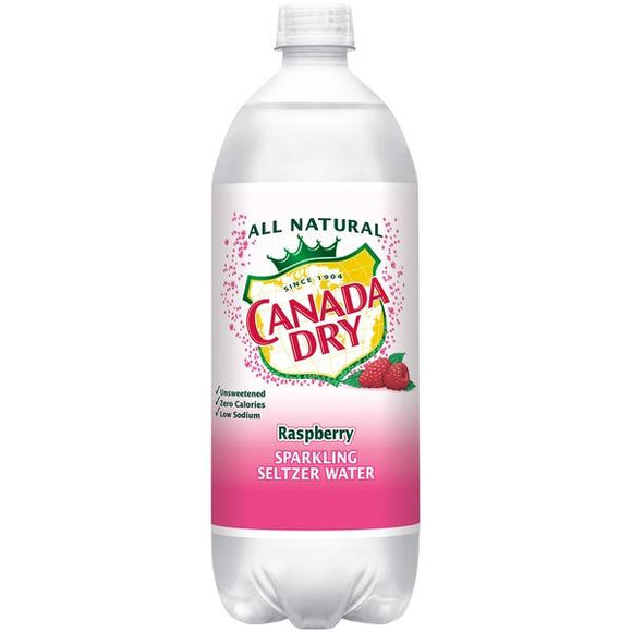 Canada Dry seltzer Raspberry 1 Liter - East Side Grocery