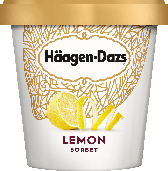 Haagen Dazs Ice Cream Lemon Sorbet 14oz.