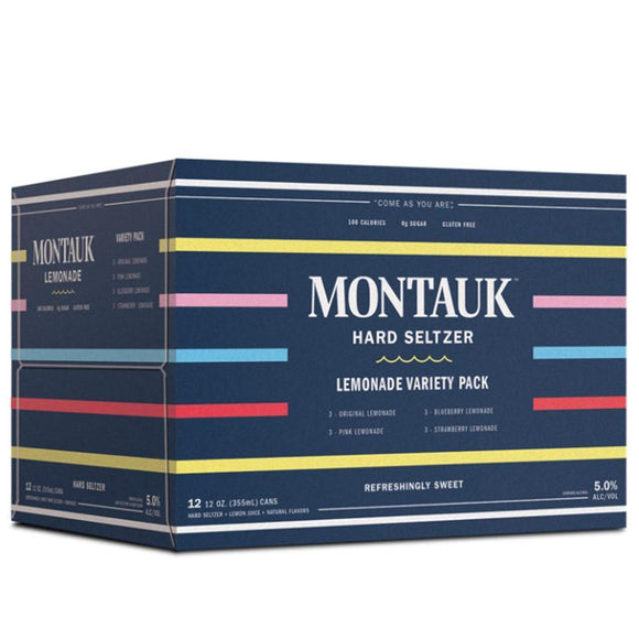 Montauk Hard Lemonade Variety Pack 12oz. Can