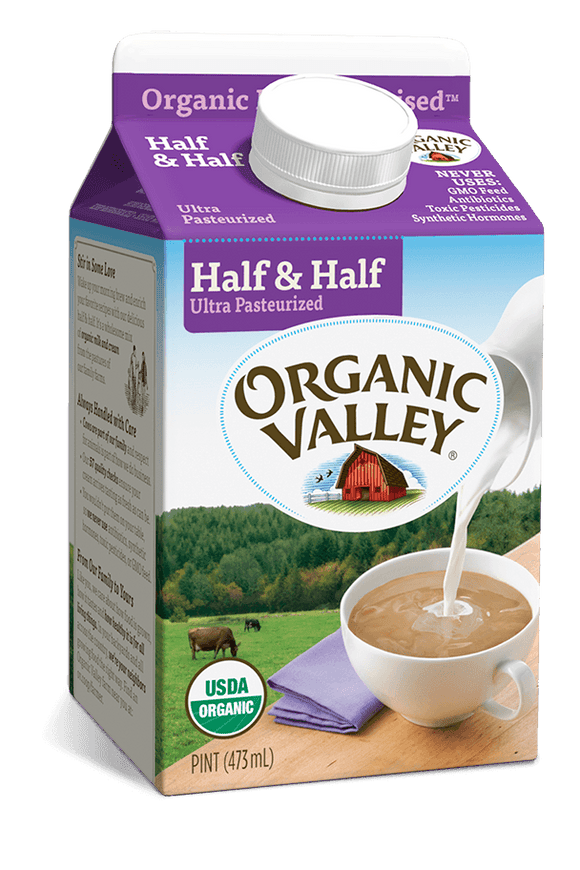 Organic Valley Half and Half Pint - East Side Grocery