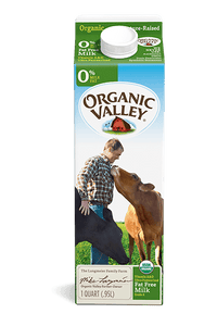 Organic Valley 0% Milk Quarts - East Side Grocery