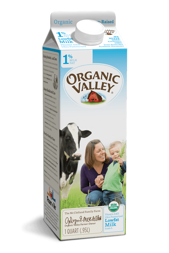 Organic Valley 1% Milk Quarts - East Side Grocery