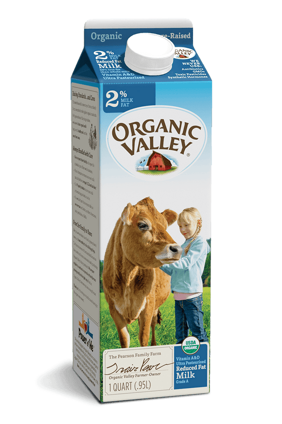 Organic Valley 2% Milk Quarts - East Side Grocery