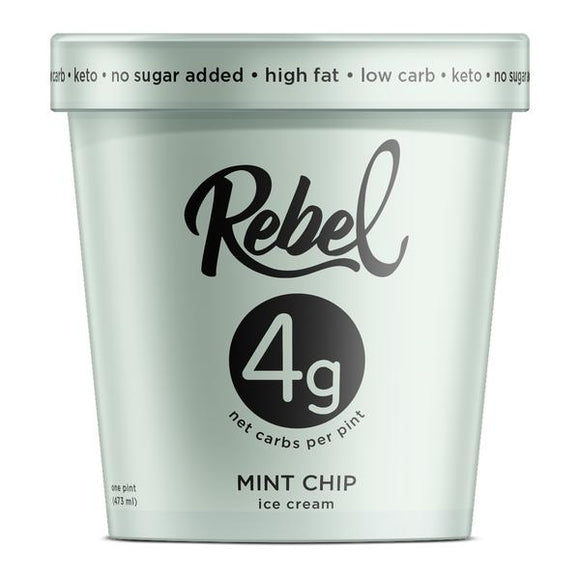 Rebel Ice Cream Mint Chip Pint - East Side Grocery