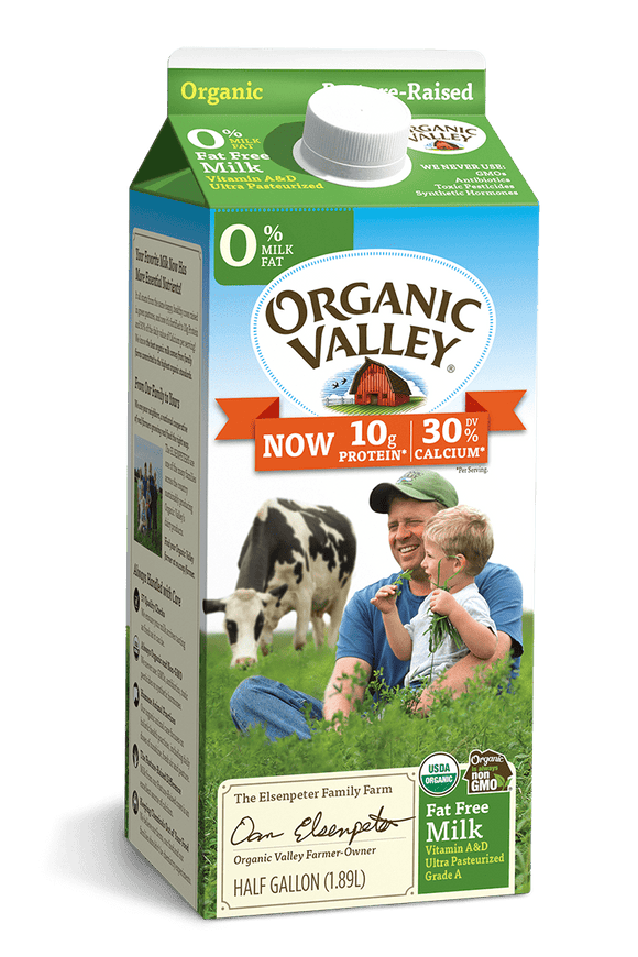 Organic Valley 0% Milk Half Gallon - East Side Grocery