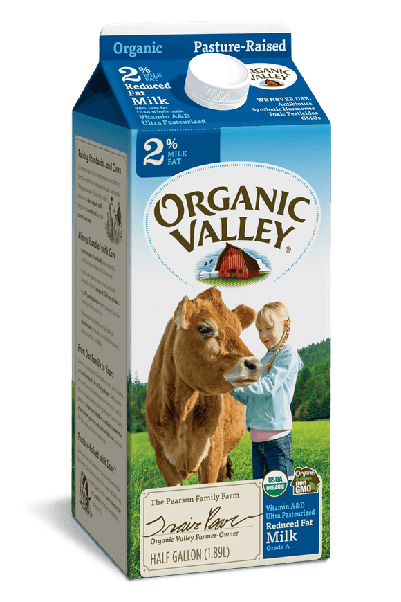 Organic Valley 2% Milk Half Gallon - East Side Grocery