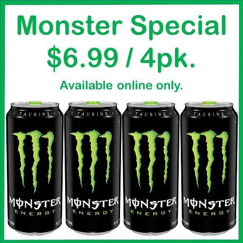 Monster Energy Drink Original 4 Pack Special