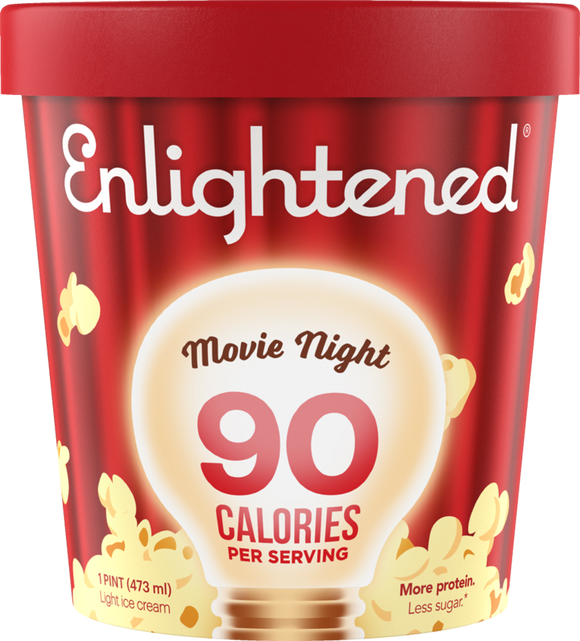 Enlightened Ice Cream Movie Night 1 Pint - East Side Grocery