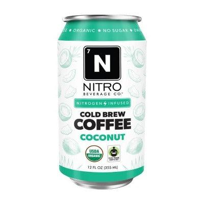 Nitro Beverage Cold Brew Coconut Coffee 12oz. - East Side Grocery