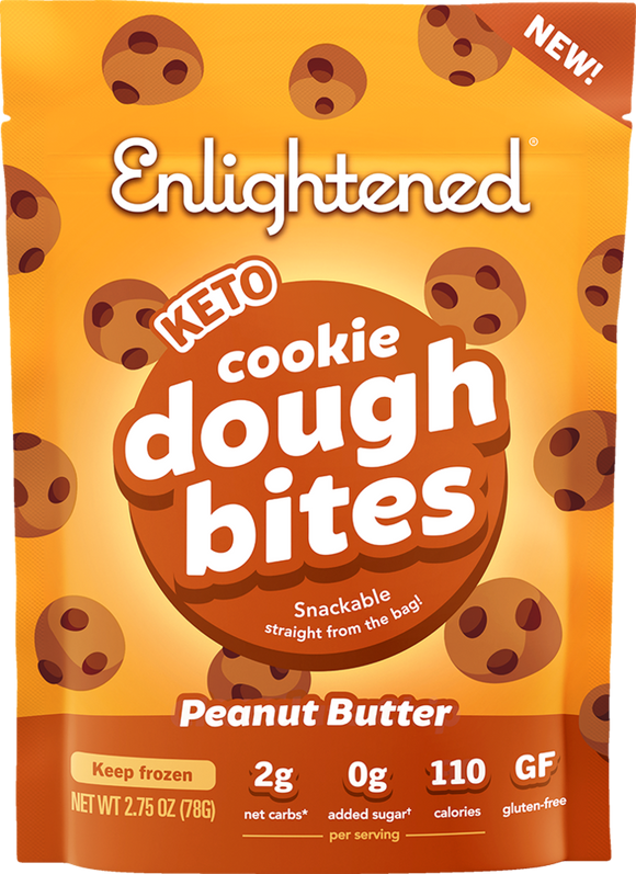 Enlightened Cookie Dough Bites Peanut Butter 2.75oz. - East Side Grocery