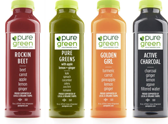 Pure Green Cold Pressed Juice 16oz. - East Side Grocery