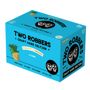 Two Robbers Hard Seltzer Pineapple Ginger 12oz. Can - East Side Grocery
