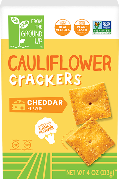 Ground Up Cauliflower Cracker Cheddar 4oz. - East Side Grocery