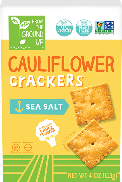 Ground Up Cauliflower Cracker Sea Salt 4oz. - East Side Grocery
