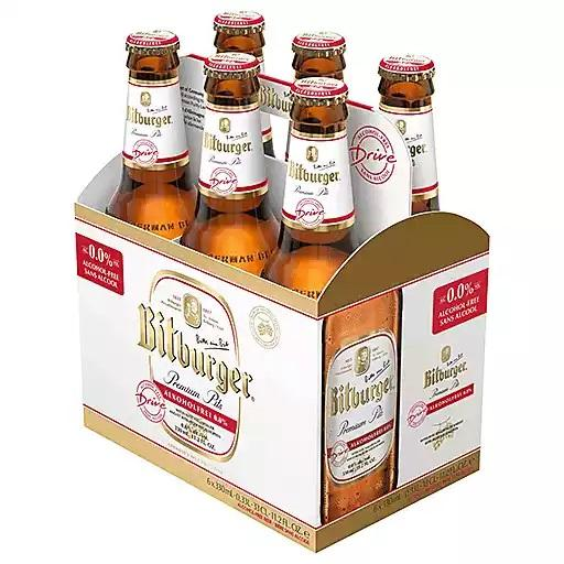 Bitburger Drive Non Alcoholic Beer - 11.2oz. Bottle - East Side Grocery
