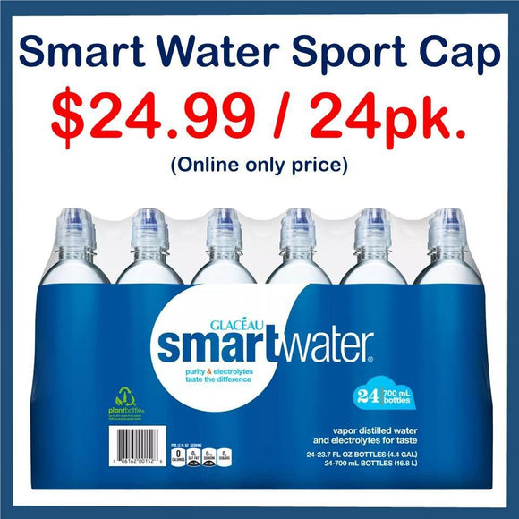 Smart Water Sport Cap 24 Pack