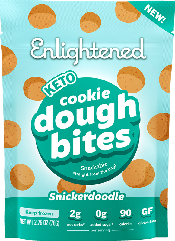 Enlightened Cookie Dough Bites Snickerdoodle 2.75oz. - East Side Grocery