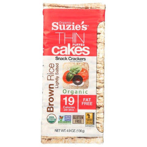 Suzie's Thin Puffed Cakes Brown Rice 4.6oz. - East Side Grocery