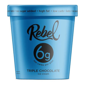 Rebel Ice Cream Triple Chocolate Pint - East Side Grocery