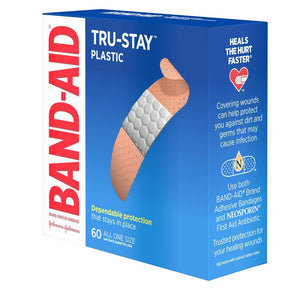 Band Aid Plastic Strip 60 Count - East Side Grocery