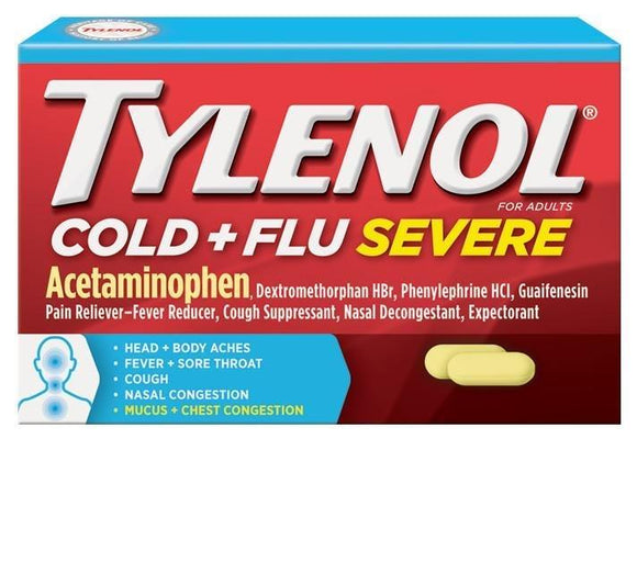 Tylenol Cold + Flu Severe 24 Count - East Side Grocery