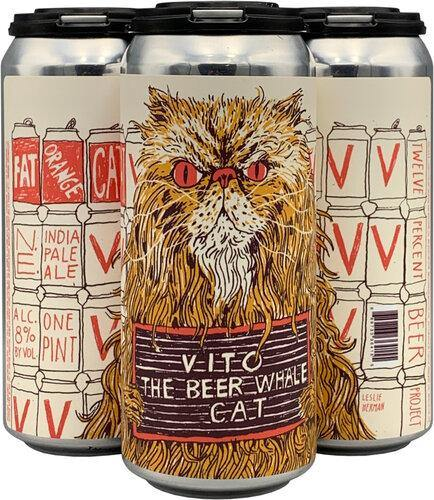 Fat Orange Cat Vito the Beer Whale Cat 16oz. Can - East Side Grocery