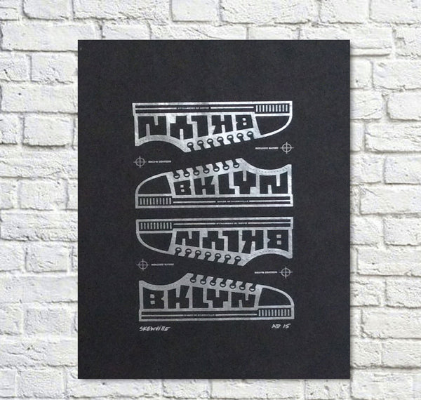 Skewville BKLYN EDITION Screenprint on Tar Paper