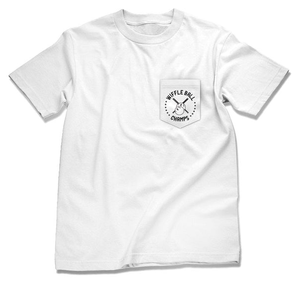 Wiffleball Champs Pocket T-Shirt (white)