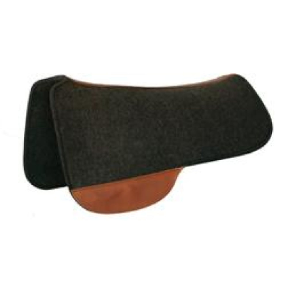 0051-3430 Tucker Full Black Wool Felt Saddle Pad