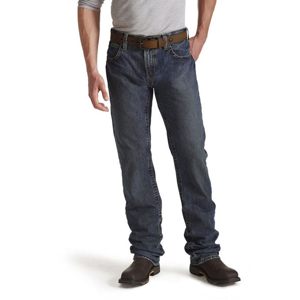 10015166 Ariat Men's Flame Resistant M5 Slim Basic Stackable Straight Leg Jeans