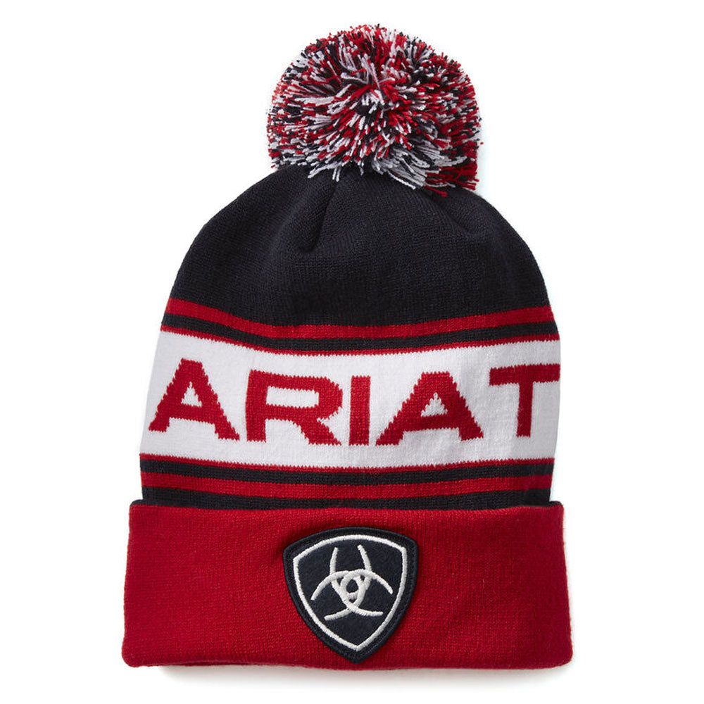 10021125 Ariat Team Beanie Red, White & Blue