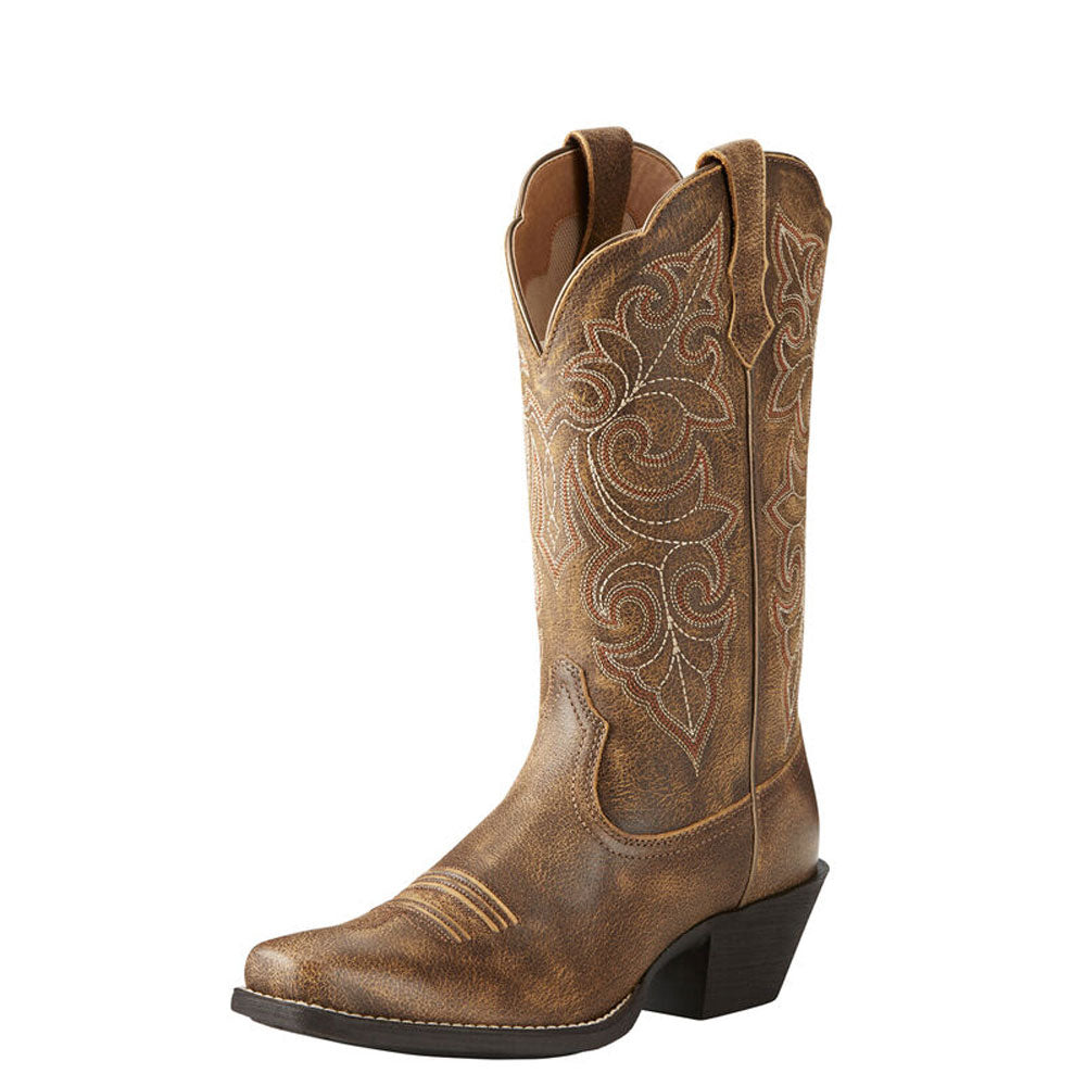 10021620 Ariat Women's Round Up Square Toe Western Boot Vintage Bomber