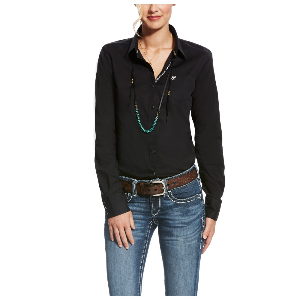 10022056 Ariat Women's Kirby Stretch Long Sleeve - Black