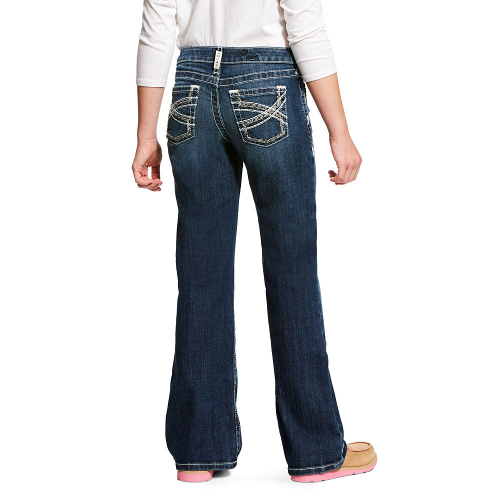 10025984 Ariat Girl's Entwined Boot Cut Jean