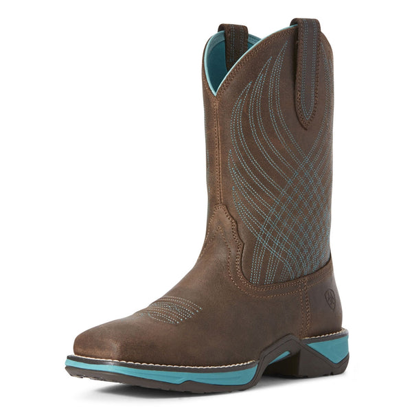 10027247 Ariat Women's Anthem Square Toe Western Cowboy Boot - Java