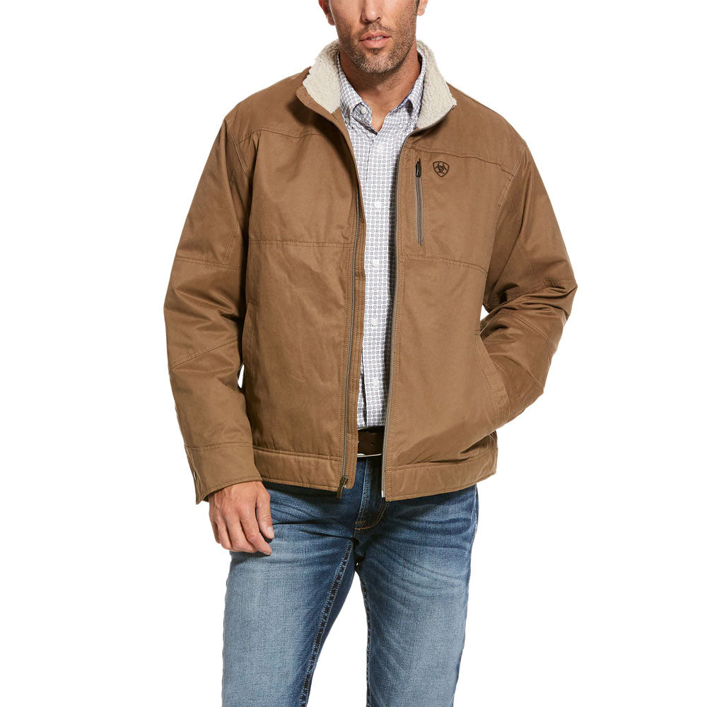 10028399 Ariat Men's Grizzly Cub Brown Concealed Carry Canvas Jacket