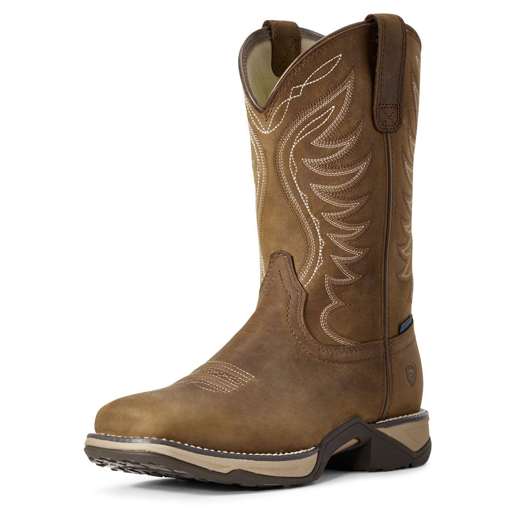 10029528 Ariat Women's Distressed Brown Anthem Western Cowboy Boots