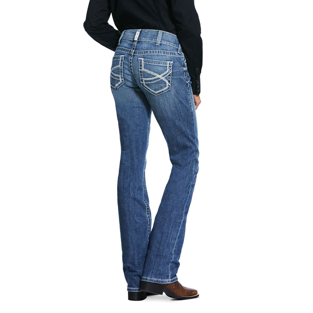 10032043 Ariat Women's R.E.A.L. Low Rise Stretch Ivy Stackable Straight Leg Jean Capitola