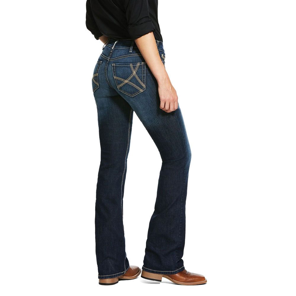 10032047 Ariat Women's Willow Mid Rise Boot Cut Jeans