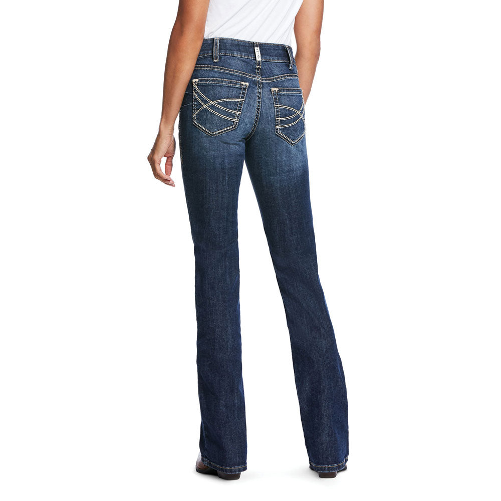 10032052 Ariat Women's R.E.A.L. Perfect Rise Stretch Linda Boot Cut Jean Goldie