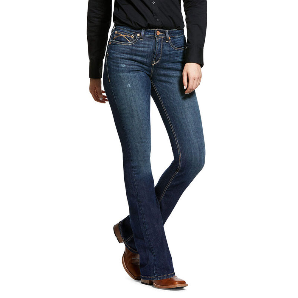10032305 Ariat Women's R.E.A.L. High Rise Stretch Marne Boot Cut Jean