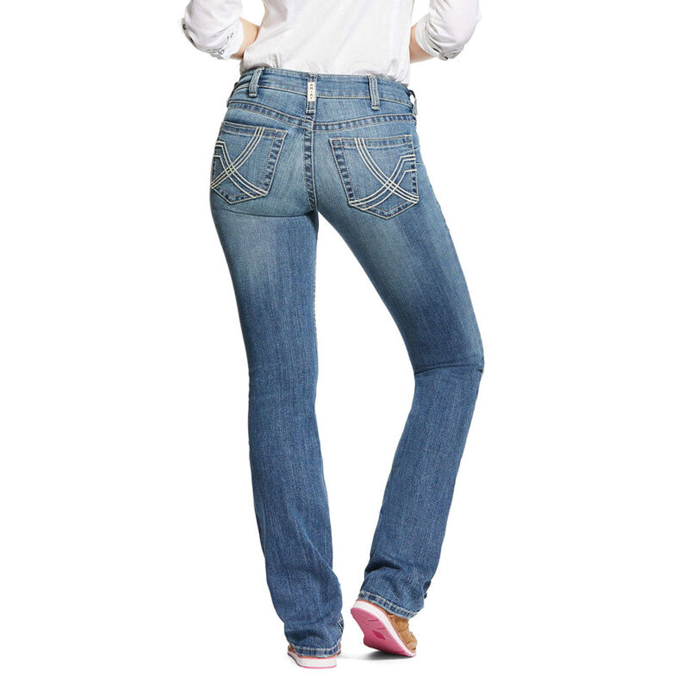 10032330 Ariat R.E.A.L. Mid Rise Stretch Whitney Stackable Straight Leg Jean Alabama