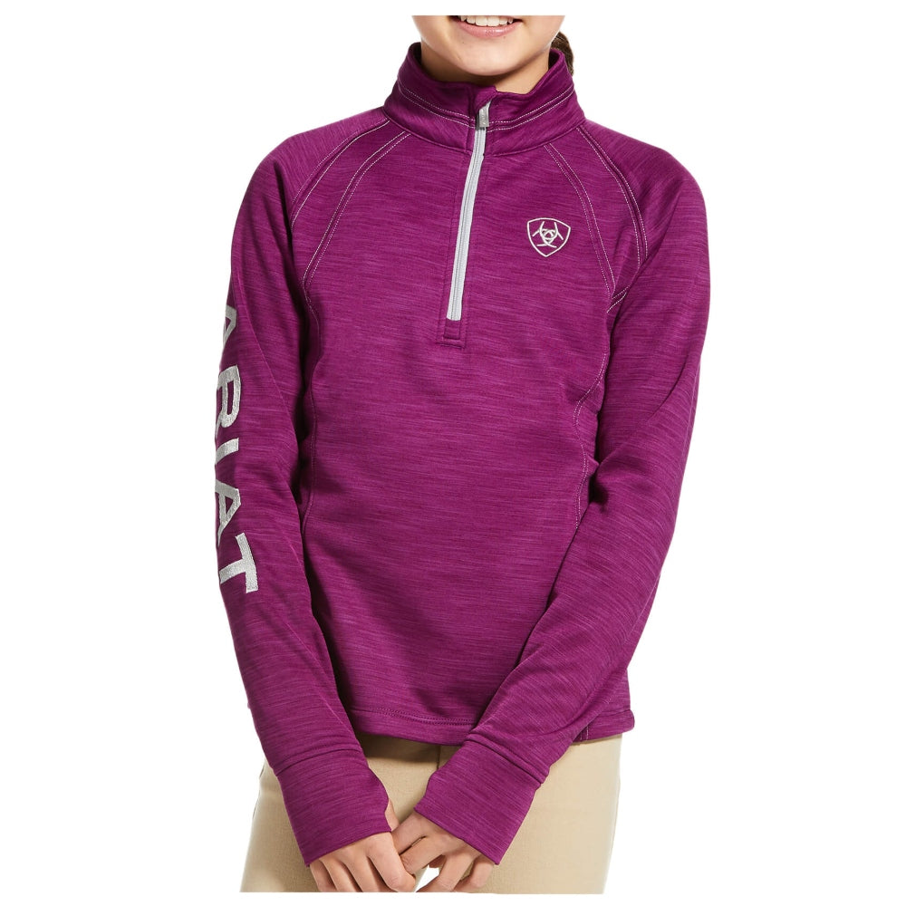 10032662 Ariat Girls TEK Team 1/2 Zip Sweatshirt Imperial Violet