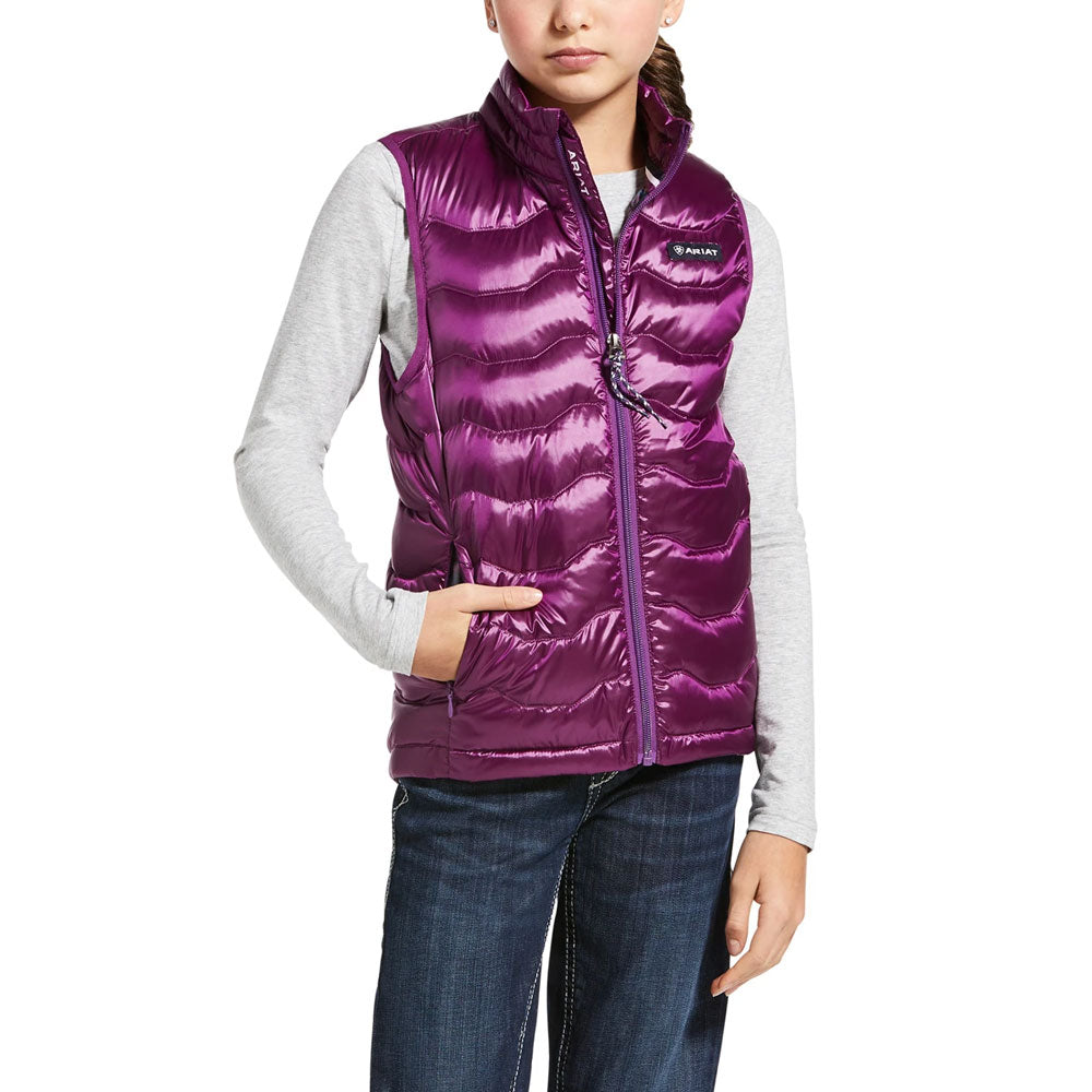 10032683 Ariat Girl's Ideal 3.0 Down Vest Violet