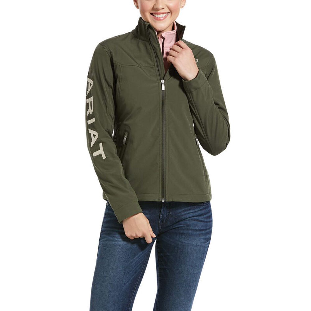 10032690 Ariat Women's New Team Softshell Jacket Prairie Green