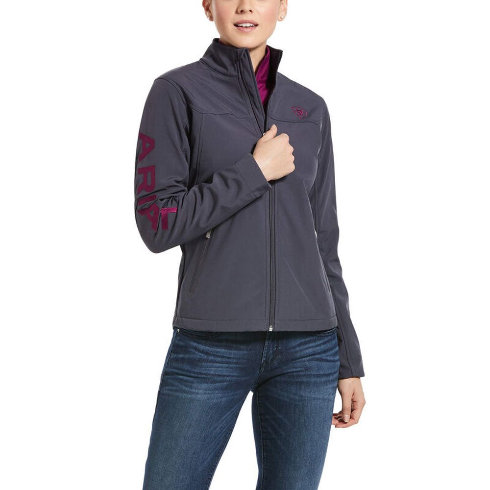 10032694 Ariat Women's New Team Softshell Jacket - Periscope Grey
