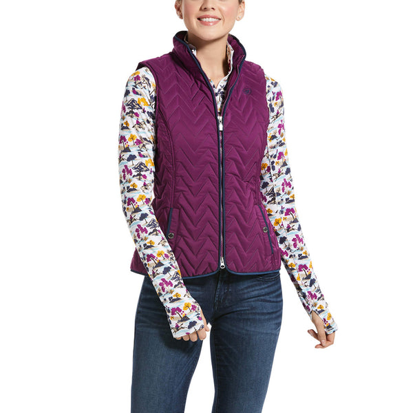 10032702 Ariat Women's Ashley Insulated Vest Imperial Violet