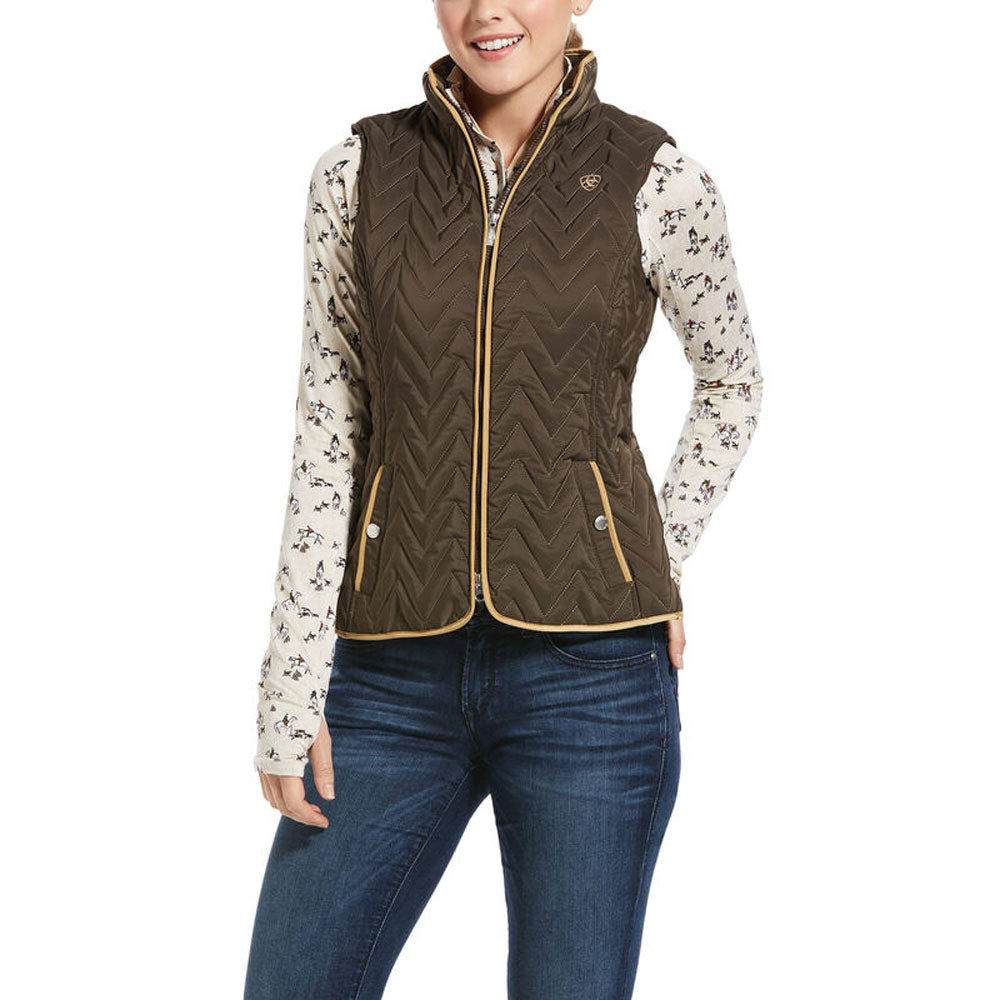 10032703 Ariat Women's Ashley Insulated Vest Banyan Bark