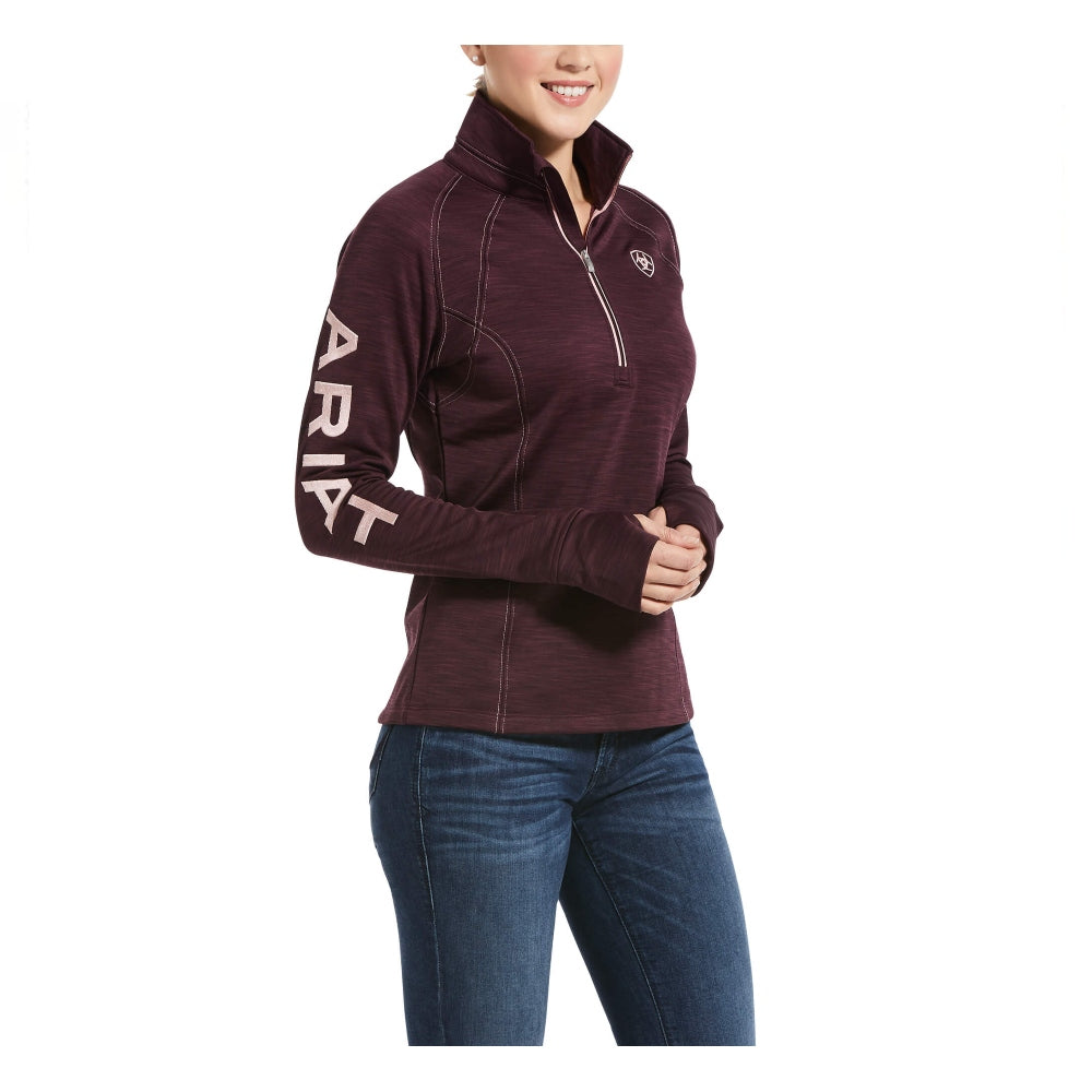 10032706 Ariat Women's Tek Team 1/2 Zip Sweatshirt - Winetasting