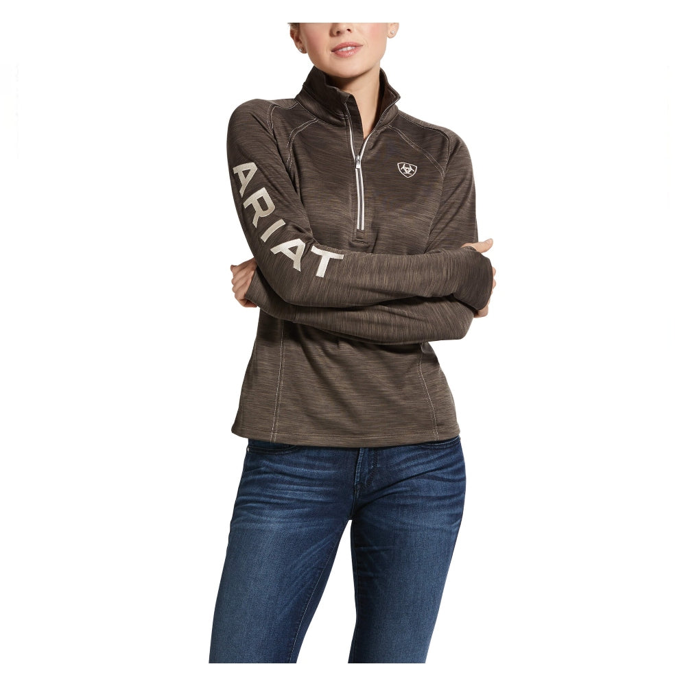 10032707 Ariat Women'sTek Team 1/2 Zip Sweatshirt - Banyan Bark